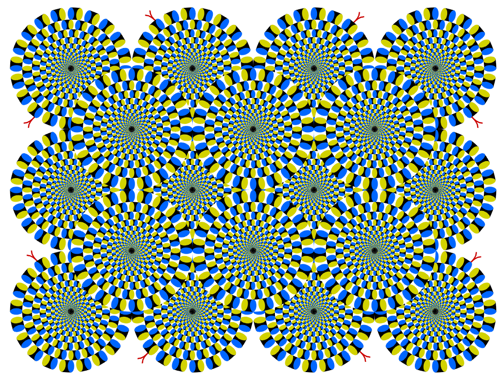 Hard optical illusions Colouring Pages (page 2)